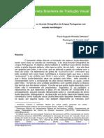 Áudiodescrição No Acordo Ortográfico Da LP Estudo Morfológico