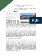 Proyecto de Implementacion de Paneles Solares