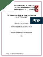 Planificación Didáctica Basado en Competencias