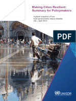 Making Cities Resilient – Summary for Policymakers