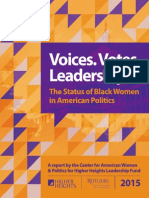 Voices. Votes. Leadership Status of Black Women in American Politics