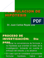 5 Formulación de Hipotesis