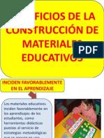 Organizador Visual Beneficios de La Construcción de Materiales Educativos - Eloy Campos
