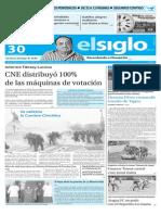 Edición Impresa Elsiglo 30-11-2015