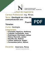 Proyecto Geologia En Vias de Comunicacíon