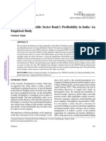 Determinants of Public Sector Bank's Profitability in India