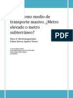 Metro Como Medio de Transporte Masivo