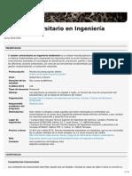 Máster Universitario en Ingeniería Ambiental (ETSECCPB)