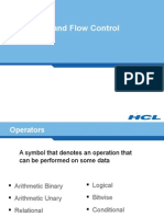 2. Operators and Flow Control