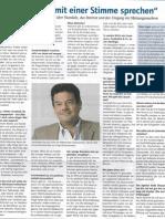 Kommunikationsberater Peter Engel im Lebensmittel Zeitung Interview