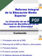 LA REFORMA INTEGRAL DE LA EDUCACION MEDIA SUPERIOR