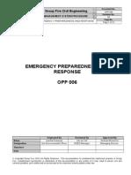 OPP-006(00) Emergency Preparedness and Response