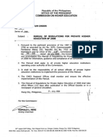 CHED-MEMO-2008-40 - Manual of Regulation for Private Higher Education (MORPE)
