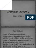 Grammar Lecture 2