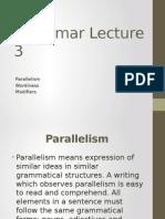 Grammar Lecture 3