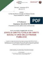 Stato di diritto, tutela dei diritti sociali e crisi delle finanze pubbliche - 01.12