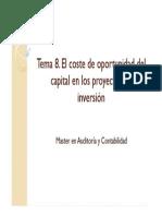 8. El coste de oportunidad del capital en los proyectos de inversión.pdf