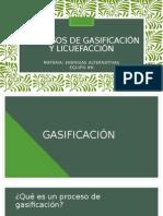 Procesos de Gasificación y Licuefacción