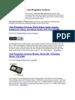 Vibration Meter - Alat Pengukur Getaran