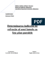 Feghiu Andreea CEPA 1b Indicele de Refractie