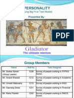 Personality (big 5 test)by gladiators