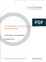 The challenge of communicating unwelcome climate messages