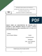 Ensayo Caracteristicas Del Mercado Meta Producto Seleccionado.