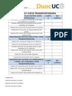 Checklist Cinta Transportadora