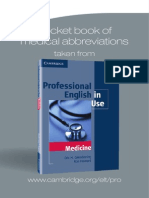 Pocket book of Medical Abbreviations