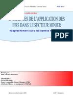 Incidences de lapplication des IFRS dans le secteur minier rapprochement avec les normes marocaine.PDF