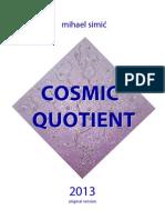 Mihael Simic - Cosmic Quotient