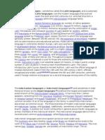 Indo European Languages