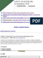 Grille2 FLE, Grille d'Analyse, Français Langue Étrangère