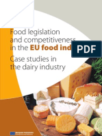 Food legislation and competitiveness in the EU food industry