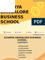 Acharya Bangalore Business School|MBA|PGDM|ABBS