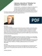 Cardinale Tarcisio Bertone Intervista Al Cittadino Di Genova