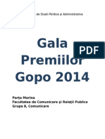 Proiect - Gala Premiilor Gopo 2014