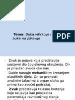 Presentation - Buka Vibracije i Uticaj Buke Na Zdravlje