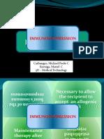 Immunosuppression & Immune Tolerance Report 3HMT - Carbungco & Enverga