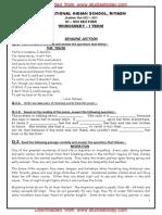 Class 8 English Worksheet - Reading Writing (1)