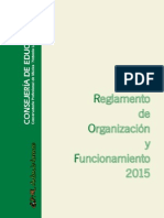 Reglamento de Organización y Funcionamiento 2015