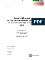 Competitiveness of the European Food Industry - An economic and legal assessment 2007