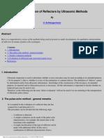 Characterization of Reflectors by Ultrasonic Methods