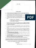 XAT2012 Paper