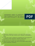 Assess and Classify Cough or Difficulty in Breathing