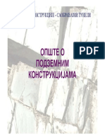 4 - Opste o Podzemnim Konstrukcijama - Namena i Svetli Profil