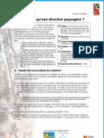 Directive paysagère