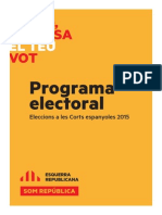 Programa electoral. Eleccions a les Corts espanyoles 2015
