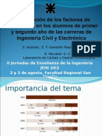 Persistencia Alumnos Civil y Electronica