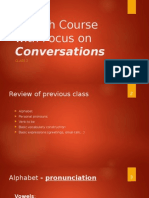 English Course With Focus on Conversations - Copy